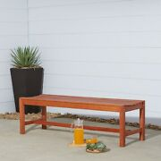 Surfside Eco-friendly 5-foot Wood Backless Garden Bench By Brown