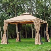 Outsunny 10and039 X 10and039 Outdoor Garden Gazebo Sunshade Canopy