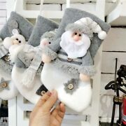 Non Woven Christmas Stocking Home Ornament Hanging Decoration Gift Candy Bag 1pc