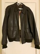 🔥 🔥 Pop's Leather Deluxe Usaf A-2 Flight Brown Jacket Rare Size L🔥🔥