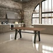 Amisco Sierra Dining Table With Distressed Solid Wood Top