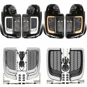 Motorcycle Fairing Lower Grills Led Light Lamp For Harley Touring Street Electra