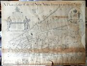 19th Century Facsimile A Plan Of The City Of New York From Actual Survey