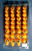 Dept 56 – Pumpkin Faces Taper Candles – Time To Celebrate – Set Of 4 - Nib