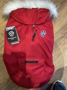 Genuine Canada Pooch Quilted North Pole Red Dog Coat Size 18 And03945cm 11-15kg New