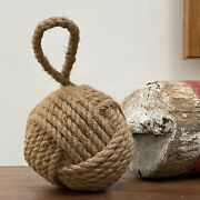 Nautical Rope Ball Heavy Door Stop Sailors Knot Old Style