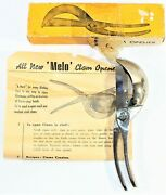 Clam Opener Hoffritz Ny Stainless Steel Melo With Box And Pamphlet - Italy Vintage