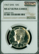 1967 Kennedy Half Ngc Ms67 Ucam Mac Spotless Tough In This Grade .