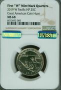 2019-w Pacific Park Guam Ngc Ms-68 Pq Mac Finest And Spotless Rare