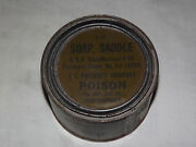 Vintage 1943 Wwii Cavalry Army Saddle Soap In Can