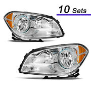 For 2008-2012 Chevy Malibu Headlights Factory Headlamps Replacement Left+right