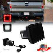 Smoked Lens Brake Backup Light Trailer Hitch Cover Fit Towing And Hauling 2 Size