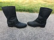 Sperry Top-sider Ladies Black Leather Mid-calf Pull On Riding Boots Size 9 M