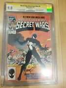 Secret Wars 8 Cgc 9.8 Ss Signed By Mike Zeck White Pages