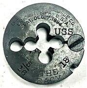 Antique Champion Blower And Forge Co. 5/16andrdquo 18 Thread Die Andndash The Easy