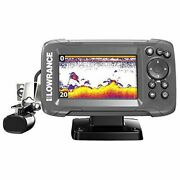 Lowrance Hook2 4x Fish Finder With Bullet Skimmer Transducer