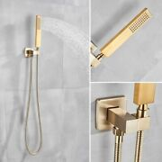Wall Mounted Faucet Shower Sets Brushed Gold Bathroom Mixer Head Single Handled