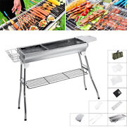 41 X 13 Stainless Steel Folding Portable Charcoal Barbecue Bbq Grill Us