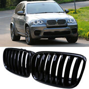 For Bmw X5 X6 E70/e71/e72 2007-2014 Front Hood Grilles Grill Covers Frame Vent