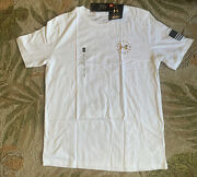 Under Armour Freedom The Classic Tee Menand039s Large Short Sleeve White Crew Necki