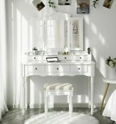 Soares Vanity Set With Stool And Mirror
