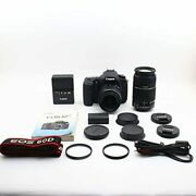 Canon Digital Slr Cameras Eos 60d Double Zoom Kit Ef-s18-55mm