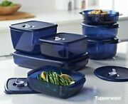 Tupperware Vent And Serve Food Storage 7 Piece Set For Freezer And Microwave New