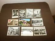 Vintage Lot Of 10 Old Polish Poland Postcards And Photos