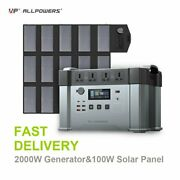 Allpowers Portable Power Station 2000w Energiequelle With 18v100w Solar Panel