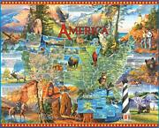 White Mountain Puzzles National Parks 1000 Piece Jigsaw Puzzle