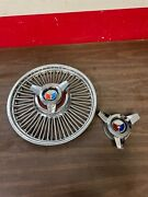 1963 1964 1965 Ford Wire Spoke 14 Hubcap Wheel Cover 3 Bar Spinners Original