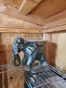 Elephant Handmade From A Whole Piece Of Wood Flower Stand