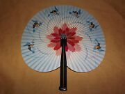 Vintage Peoples Republic Of China Chinese Paper Folding Hand Fan