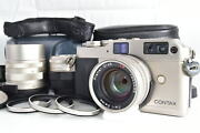 3lens Set [mint W/ Case ] Contax G1 Camera 28mm 45mm 90mm T Lens From Japan