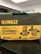 Dewalt Router Fixed/plunge Base Kit, Variable Speed, 12-amp, 2-1/4-hp Dw618pk
