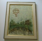 Phyllis Timmons Painting Original Fantasy Hot Air Balloon Landscape Whimsical