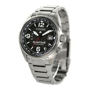 Citizen Promaster Eco-drive Radio Wave Montbell Mont-bell Mens Cb0171-97e Black