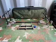 Carp Fishing Tackle - Summit Cobalt Black Colosseum 3 Rod Pod With Bag And Extras