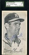 Danny O`connell D.69 Signed Jsa 1955 Postmarked Postcard Authentic Autograph