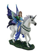 Anne Stokes Realm Of Enchantment Blue Fairy Statue