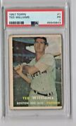 1957 Topps Ted Williams 1. Psa 1. Boston Red Sox