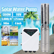 4and039and039 Solar Power Water Pump Farm Ranch Submersible Deep Well + Mppt Controller