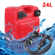 Outboard Boat Marine Fuel Tank Marine With Connector + Fuel Line Portable 24l