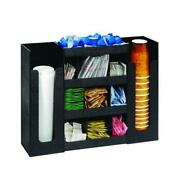 Dispense-rite - Dlco-5bt - Six Section Cup, Lid And Condiment Organizer