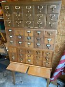 Vintage Library Card Catalog 45 Drawer Funky And Cool