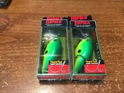 Lot Of 2 Rapala Dt-4 Lures Dtss04 Ctl Char/lime Discontinued Color Nips