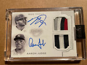 2020 Topps Dynasty Mike Trout Aaron Judge Dual Auto Patch 2/5