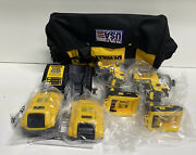 """Dewalt Dcf887 And Dcd796 20v Max Cordless 1/2"""" Drill 1/4"""" Impact 2 Battery Charger"""