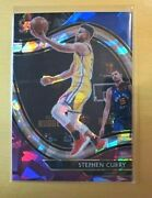 2020-21 Panini Select Stephen Curry 204 Courtside Blue White Purple Cracked Ice