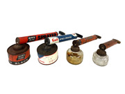 Vintage Lot Of 4 Bug Insect Sprayers Fly Ded Gulf And Black Flag Empty